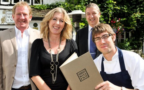 The award-winning Shibden Mill Inn team